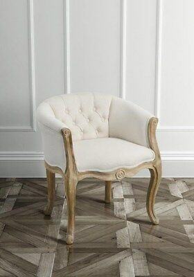 French Tub Chair Louis Style Armchair Hallway Bedroom Furniture Shabby Chic Seat