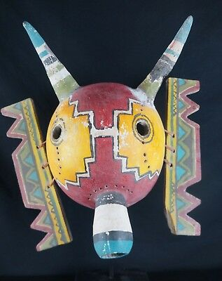 14# Antique Kachina MASK  - HOPI, Native American, EMPTY INSIDE, great carving!