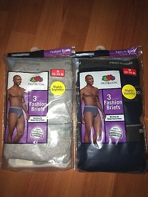 Fruit Of The Loom Mens 6-Pack Fashion Briefs Tagless!!