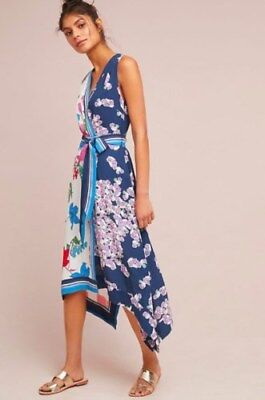 7b2bd8fd84e5b NWT $158 Anthropologie Wrapped Botanica Dress Floral with Belt by Maeve Size  10