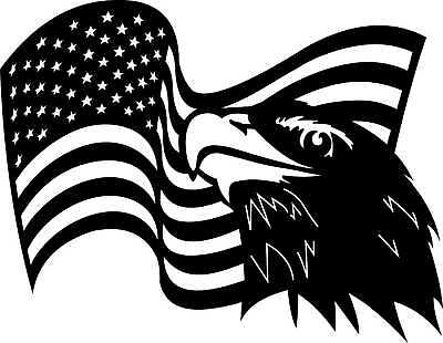 DXF of PLASMA Laser ROUTER Cut -CNC Vector DXF-CDR - AI  USA FLAG