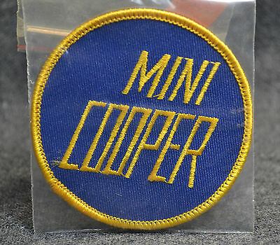 RARE  Vintage  Mini Cooper Patch  1970s  1980s  Racing