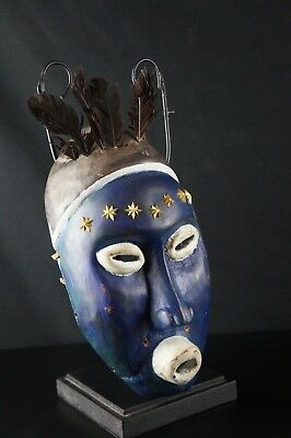 54# Antique CREEK Mask - Native American