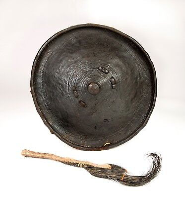Ethiopian Shield, Arussi / Oromo, with fly whisk
