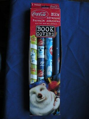 Coca-Cola 1999 Book Covers 4 different Polar Bear in original package