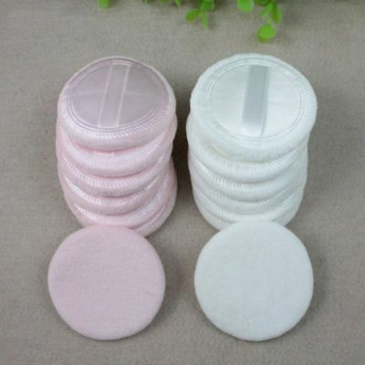 10Pcs Powder Puff Soft Velour Puffs Blending Sponge Puff for Loose Powder