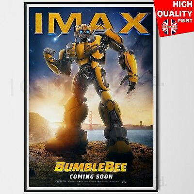 BumbleBee Poster Travis Knight 2018 Transformers IMAX Movie 2018 | A4 A3 A2 A1 |