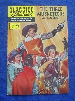 Classics Illustrated #1 THREE MUSKETEERS Comic Book HRN 169 by Alexandre Dumas 3