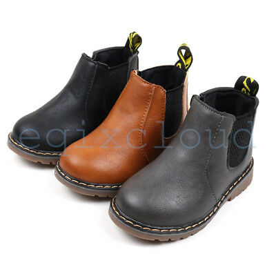 Winter Toddler Kids Boy Girl Martin Nonslip England boots Casual Baby Shoes 1-6Y