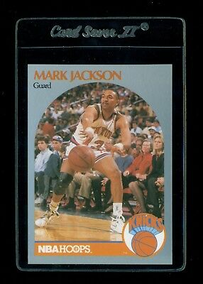 1990-91 Hoops #205 Mark Jackson with Menendez Brothers in Background - MINT