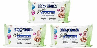 Baby Touch Wipes. 240 Unscented Baby Wipes. Non-allergic Cleansing Wipes.
