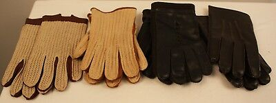 4 PAIR OF MENS  ORIGINAL VINTAGE  GLOVES FROM THE 1960s AND 70s.