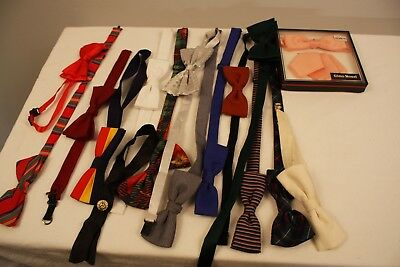 16  MENS  ORIGINAL VINTAGE BOW TIES FROM 40s TO THE 60s