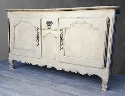 18th century antique provencal french farmhouse painted dresser sideboard buffet