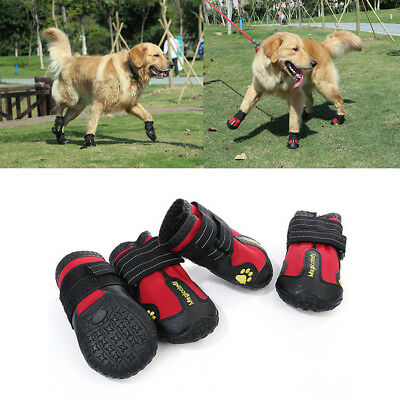 4pcs Pet Shoes Anti Skid Dog Boots Booties for Medium Large Dogs Paw Protection