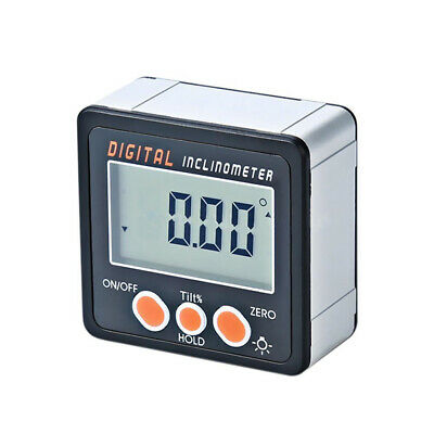 Digital Inclinometer Level Box Protractor Angle Finder Bevel Gauge Magnet LCD SR