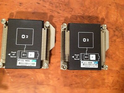 2 x HP BL460C GEN8 CPU HeatSink 653234-002 665003-001 665002-001