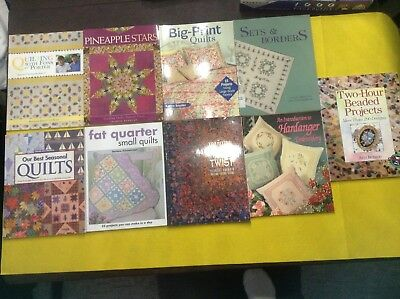 Huge Lot Of 9   Quilting/sewing Books