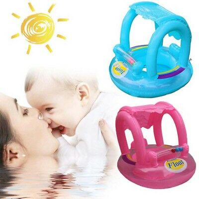 Children Inflatable Kids Baby Toddler Swimming Pool Swim Seat Float Sunshade UK