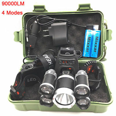 LED Headlamp 90000LM Headlight Flashlight Camping Fishing Torch Lantern Light