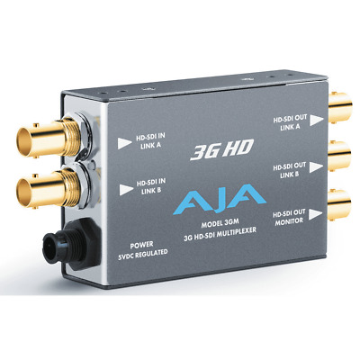 AJA 3GM 3G HD-SDI Multiplexer Mini Converter –NEW-