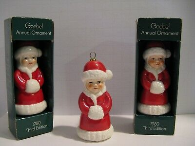 1980 GOEBEL 3rd Edition Annual Christmas Tree Ornament- Mrs. Santa