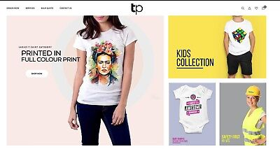 DTG  T-Shirt Printing Website up for sale, Incl Designer tools. Ready to work