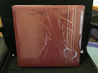 Creative Memories 12x12 Maroon and silver foiled heart album