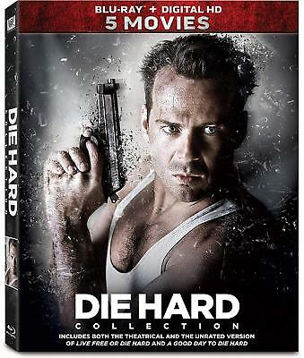 Die Hard 5-Movie Collection Bruce Willis Action & Adventure discs 5 Blu-ray NEW