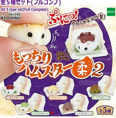 Japan Epoch Mocchiri Hamster Yawaraka Vol.2  GASHAPON Toy Super Soft Squishy!