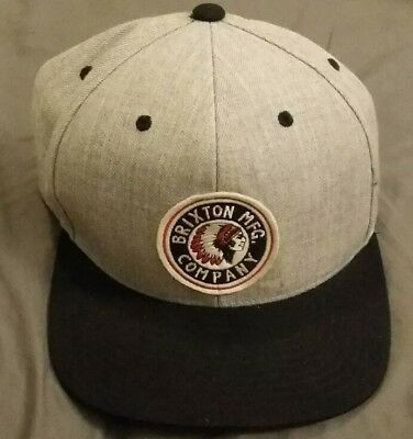 RARE BRIXTON MFG. Manufacturing Company Grey Snapback Hat - Brand ... d843e044d75