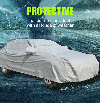 L Waterproof Medium  Layer Full Car Cover Breathable UV Protect Indoor Outdoor