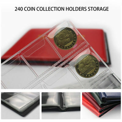 240 Collecting Collection Coin Penny Money Storage Album Book Holder Case