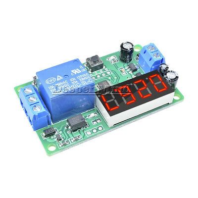 DC 24V Digital LED Trigger Delay Time Cycle Timer Control Switch Relay Module