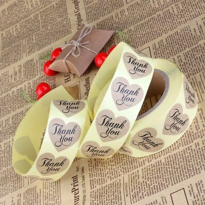 THANK YOU Kraft Paper Gift Tags Scallop Label Luggage Wedding Roll 600pcs