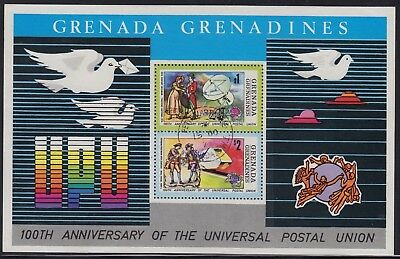 Grenada Grenadines 1974 UPU sheet, CTO