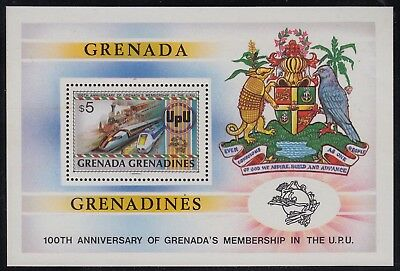 Grenada Grenadines 1982 Centenary in the UPU $5 sheet, mnh