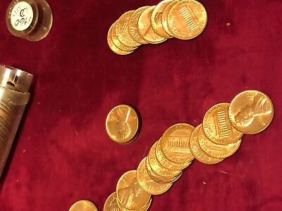 US Pennies 1960D Small Date Roll of 50 Coins Uncirculated