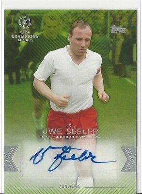 Uwe Seeler Hamburger SV Topps Showcase 2015/16 Autogramm Green #94/150