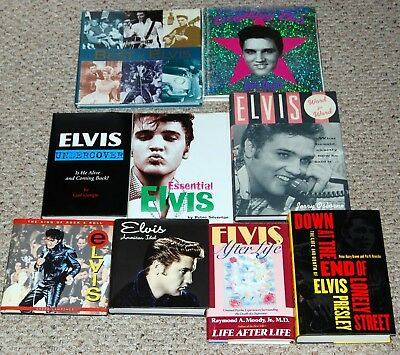 ELVIS PRESLEY 9pc Hardcover Photo Book Lot DEAL All in EX Condition perfect gift