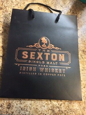 Sexton Single Malt Irish Whiskey Black Gift Bag