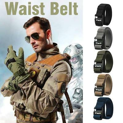 Outdoor Heavy Duty Rigger Military Tactical Belt with Quick-Release Nylon Buckle