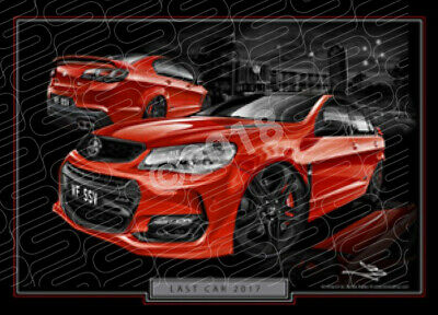 Special Edition HOLDEN COMMODORE VF II SSV LAST CAR STRETCHED CANVAS (LC001)