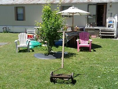 ***Antique Vintage Rotary Push Reel Lawn Mower (No Need to Use Gas Ever***)