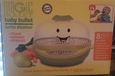 Baby Bullet Turbo Steamer 8 Piece Set New In Box