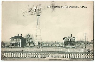 Bismarck North Dakota ND ~ U.S. Weather Bureau Station 1910