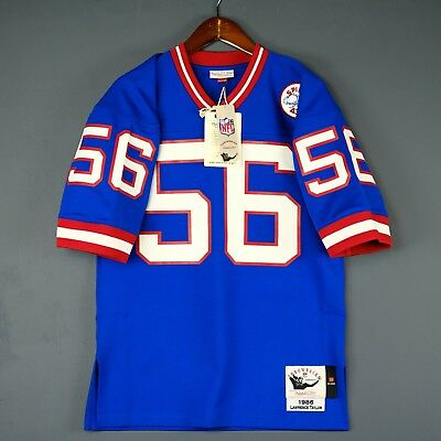 100% Authentic Lawrence Taylor Giants Mitchell Ness NFL Jersey Size Mens 40  M 056f0e76f