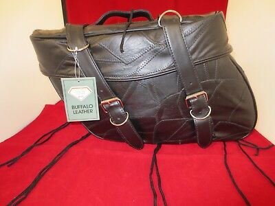 9 piece Leather Motorcycle Biker Bag Luggage-Fits Most Bikes