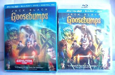 Goosebumps - Blu-ray 3D + Blu-ray + DVD + Digital HD Ultraviolet - New / Rare