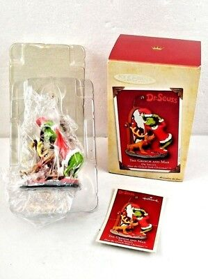 Hallmark Keepsake Ornament The Grinch and Max Dr. Seuss 2004 NEW IN BOX